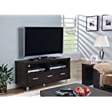 Monarch Specialties Length TV Console with 3 Drawers, 48-Inch, Cappuccino