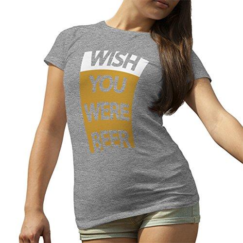 Beer Love Crazzy T-Shirt camiseta para la Mujer Gris