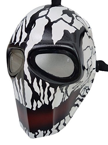 Mandalorian Costume Pattern (Invader King ® Crank Paintball Mask Airsoft Mask Protective Gear Outdoor Sport Fancy Party Ghost Masks Bb Gun)
