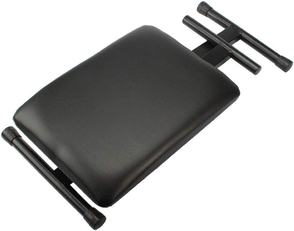 Soft and Comfortable Padding Adjustable Folding Piano Bench Stool Seat Black Leather Surface