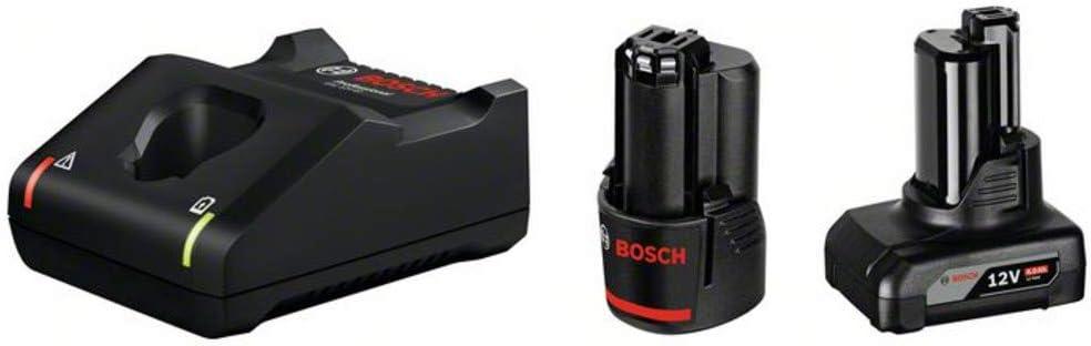 Bosch Professional Starterset GAL 12V-40 + GBA 12V - Cargador + batería de litio (1 batería x 2.0 Ah + 1 batería x 4.0 Ah, cargador 10,8V / 12V)