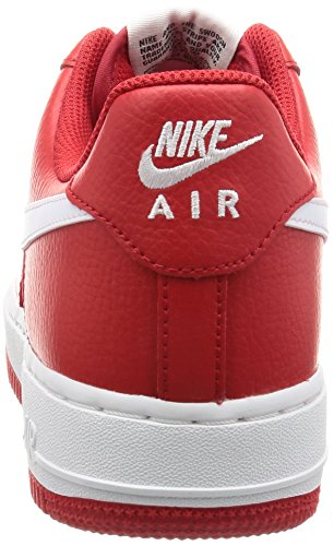 and Red University Basketball Nike black White 1 Shoes Force White Red Air Men's white qwv0a