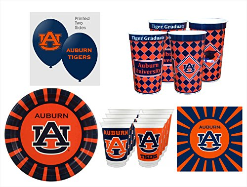 Auburn Tigers GRADUATION Party Pack - 57 pieces by Westrick