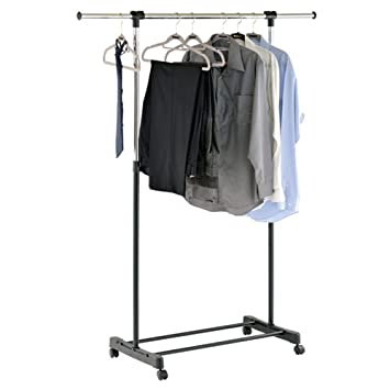 Watsons stretch extendable instant wardrobeclothes hanging rail watsons stretch extendable instant wardrobeclothes hanging rail amazon kitchen home sisterspd