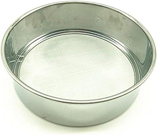 Stainless Steel Kitchen Round Mesh Sugar Flour Sifter Strainer Baking Tool New