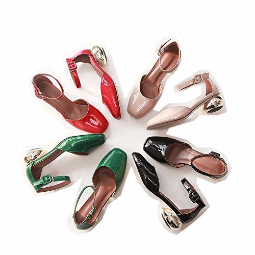 Cordones mujer con Rosa Zapatos Planos hexiajia qnfzZYz