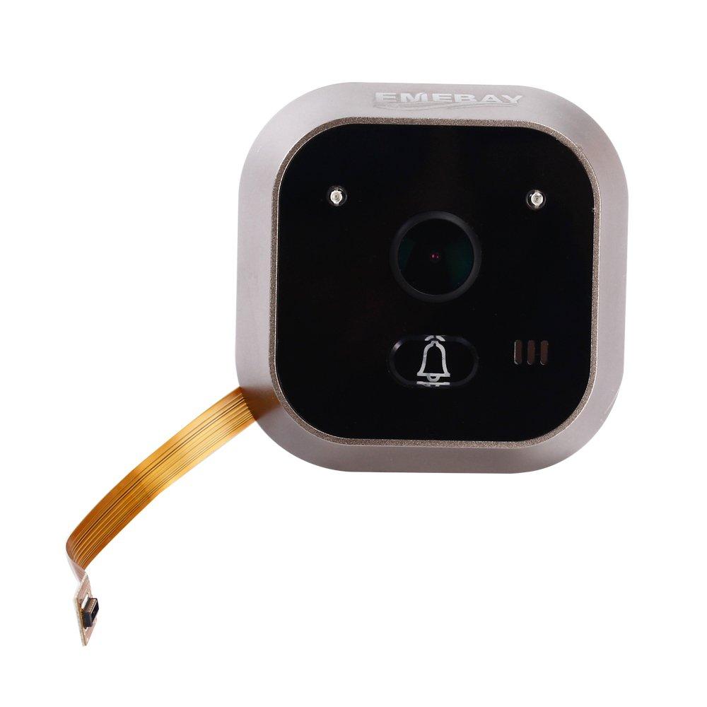 Emebay - Cámara de seguridad, mirilla digital de puerta, con pantalla LCD, ángulo de 160°, 3,2 pulgadas, para colocar encima de la puerta (con sensor de ...