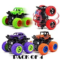 higadget Unbreakable Car Toys, Car with Big Tyres ( Pack of 4 )