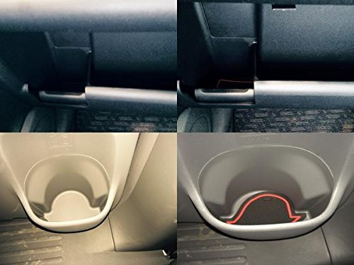 KINMEI Toyota Sienta SIENTA white NSP140 NCP141 system specially designed interior door pocket mat drink holder slip non-slip storage space protection rubber mats TOYOTAk-10 by KINMEI (Image #2)