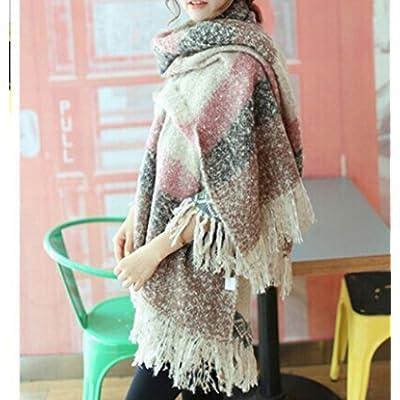 Cofco Fall avec couture d'hiver en laine de couleur chaude Latg Écharpe