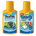 Aquarium Plant Fertilizer And Water Treatment Conditioner Kit For Freshwater Fish And Turtle Tanks - 8.45 Oz Each Bottle - Reduces Potassium Nitrate And Phosphates - Aquatic Tank Cleaner Chemicals