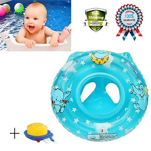 Rainbowkids New Inflatable Baby Child Handle Safety Seat Float Swim Ring Raft Chair Pool Swimming Rings