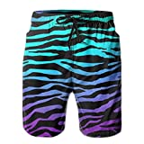 Tiger Zebra Skin Men's Beachwear Board Shorts Quick Dry Without Lining Swim Trunks for Man