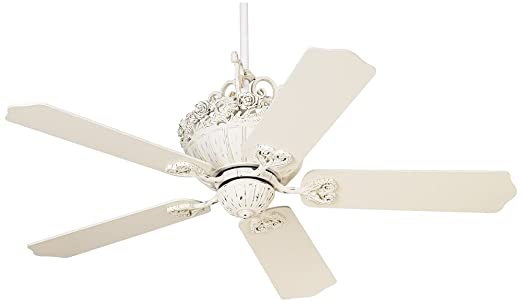 Amazon 52 casa chic rubbed white ceiling fan home improvement aloadofball Choice Image