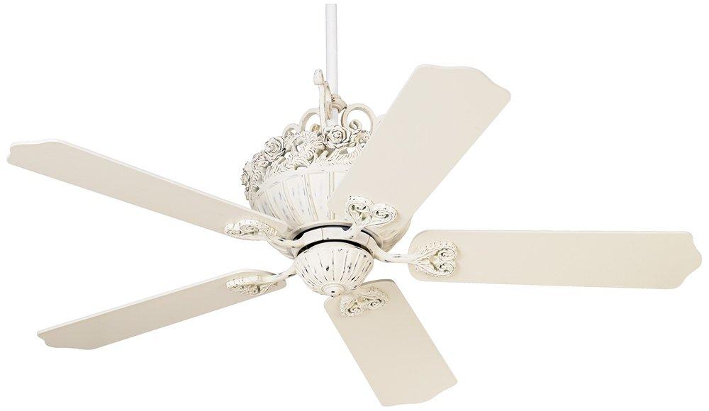 52'' Casa Chic Rubbed White Ceiling Fan