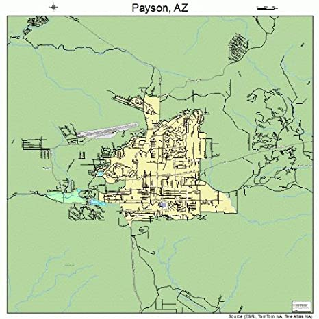 Amazon.com: Large Street & Road Map of Payson, Arizona AZ