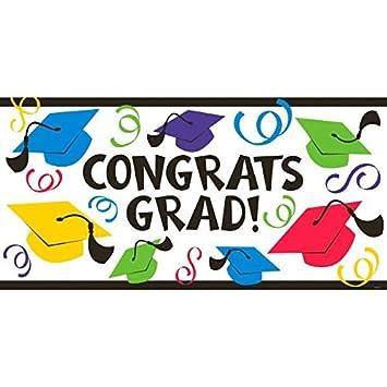 amazon congrats grad graduation party large banner decoration