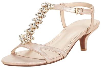 521cb1d33f5d David s Bridal Crystal T-Strap Low Heel Sandal Style Karina