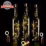 Wine Bottle Lights with Cork,LED Cork Lights for Bottle 6 Pack,Copper Wire...