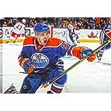 Frameworth Connor McDavid-20x29-Inch Edmonton Oilers 1st Game Back Goal Celebration Canvas