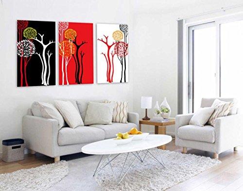 arboles abstractos del arte de la lona de impresion - Adornos de Pared - Galeria de arte moderno forrado con marco listo para colgar (16in * 24in * 3Panels) # 10-34