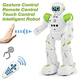 Stxiyu Rc Robot Smart Robot Toys Gesture Control & Touch Control & Remote Control Robot JJRC Robot Gift Boys Girls Kid's Companion,Game Learning Music Dance...Rechargeable Robot Kit - Green