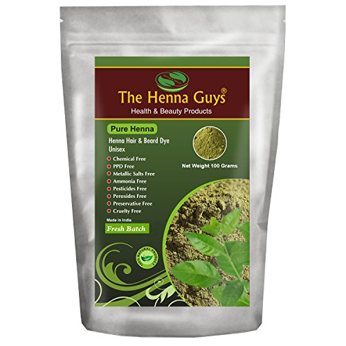 100% Pure & Natural Henna Powder For Hair Dye / Color 100 Grams - The Henna Guys