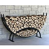 The Woodhaven Large Crescent Firewood Rack