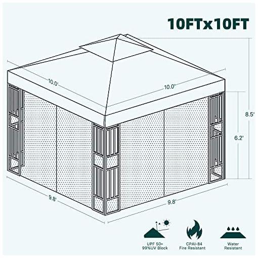 Garden and Outdoor Grand Patio 10×10 Ft Outdoor Gazebo Patio Economical Canopy for Shade Outdoor Tents with Netting for Backyard, Garden… pergolas