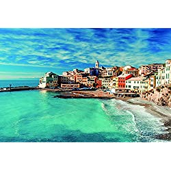 Canvas Art Print Poster- RUGGED BEAUTY of CINQUE TERRE,ITALY 24x32 inches unframed