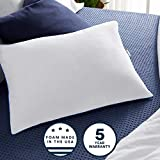 Sleep Innovations 2-in-1 Ventilated Gel Memory Foam King Pillow with Down Alternative Fiber Fill and Cotton Cover