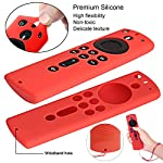 [2 Pack] Silicone Cover Case for Fire TV Stick 4K / Fire TV (3rd Gen) Compatible with All-New 2nd Gen Alexa Voice Remote…