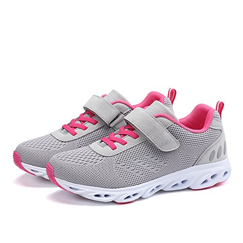Monrinda Women's Mesh Running Trainers Lightweight Shock Absorbing Sneakers Breathable Outdoor Athletic Jogging Walking Gym Fitness Sport Shoes Grey 2G0Kr1NWK