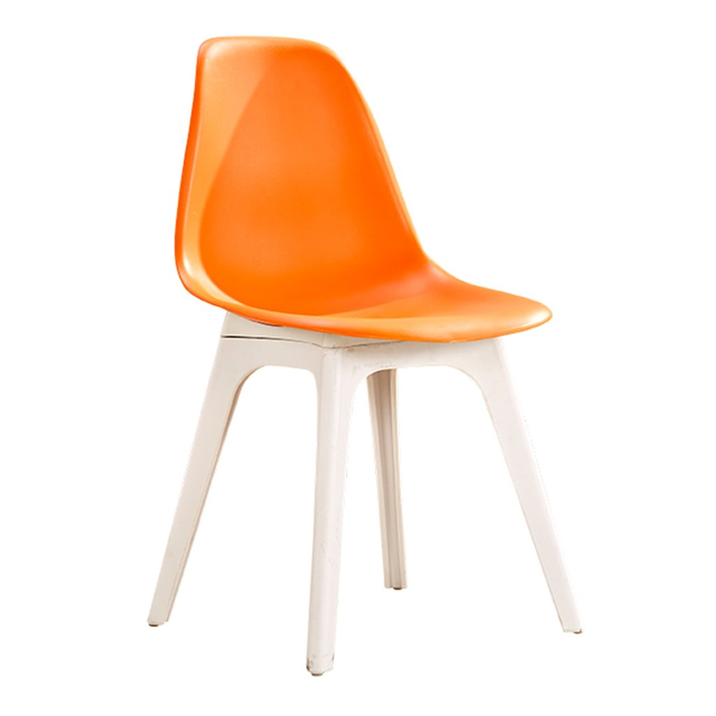 プラスチック屋外椅子防水軽量コンパクトシートスツールリビングルームの寝室の受付現代の家具 (色 : オレンジ) B07DFWBJBH オレンジ オレンジ