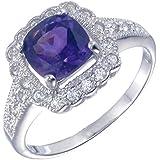 Vir Jewels, Bague Femme Argent fin 925/1000 Violet Amethyste 1.1 Karat