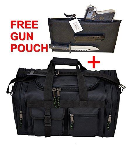 EXPLORER Range Bags Handguns Tactical Gear Shooting Accessories Large 1200 D Gun Bag Waterproof AR Magazine Holders Padded Pistol Cases Ammo Bag (Black EXPLORER Range Bags)