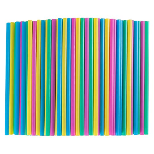 Webake 200 Bulk Compostable Smoothie Straws 9 Inch Long Wide Drinking Straw Eco Friendly Plant-based PLA, Alternative to Plastic Straws for Tumbler and Water Bottle - Assorted Colors
