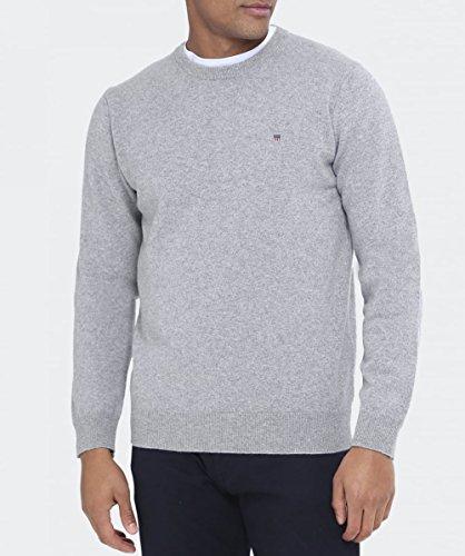 Gant Hombre Chaqueta Zip Fine Super Lambswool para Punto Gris Cardigan qCqwr7U
