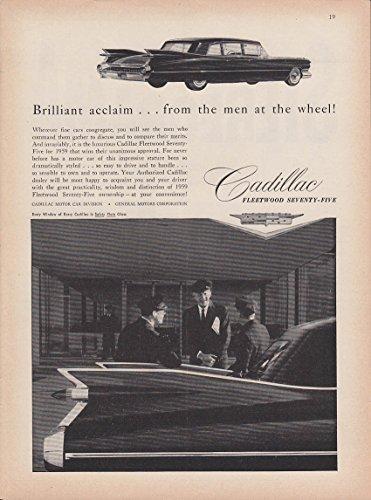 Cadillac Fleetwood Wheel (Brilliant acclaim from the men at the wheel Cadillac Fleetwood 75 ad 1959 NY)