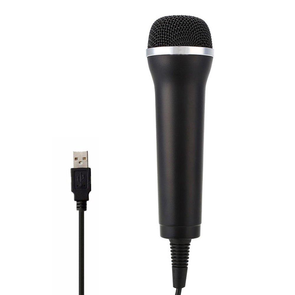 Jadebones USB Universal Karaoke Mic Microphone for PS3 Wii Xbox360 PS4 Xbox One PC