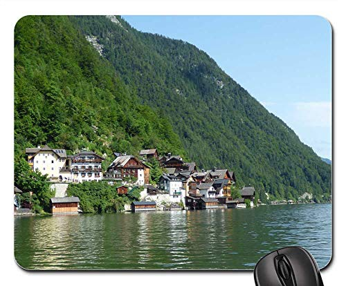 Mouse Pads - Hallstatt Austria Lake Alps Alpine Architecture 1 (Lakes Air Conditioning)