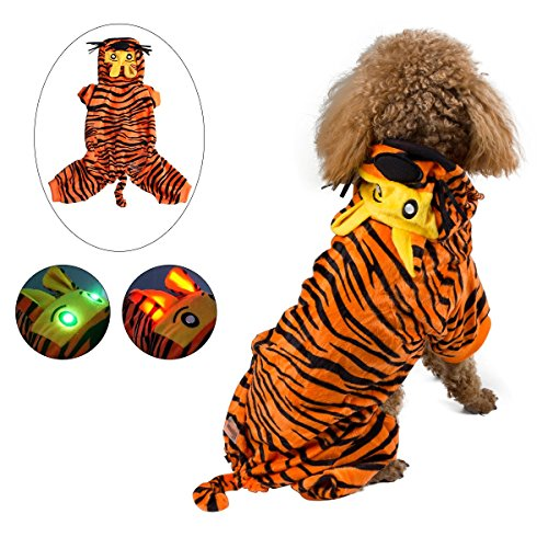 Pawow Pet Costume for Puppy Doggie (Tiger, L) ()