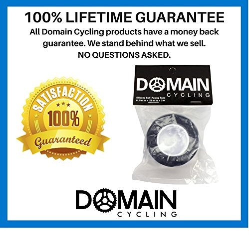 Domain Cycling Silicone Self Fusing Bicycle Handlebar Self Bonding Repair Tape, 10 ft Roll (Black)