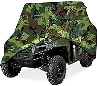 210D Polyester Heavy Duty UTV Cover Car Protector All Weather Protection with Storage Bag for Outdoor, 114.17' x 59.06' x 74.80'