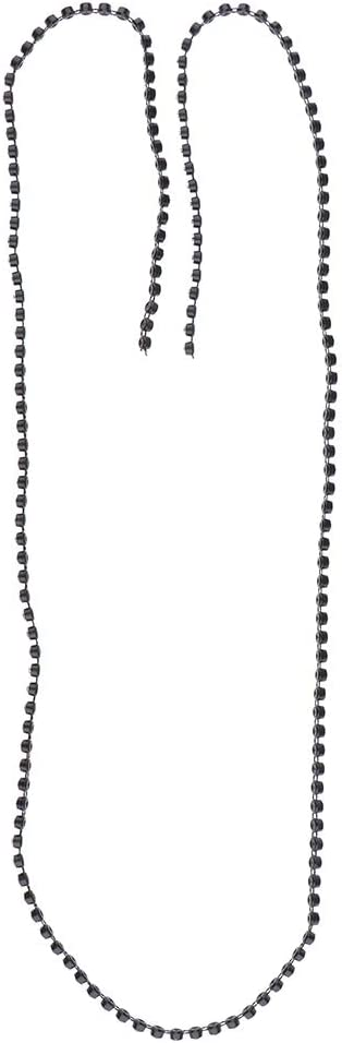 Black 4mm IPOTCH 1 Yard Black Trims Crystal Rhinestone Beaded Applique Lace Chain Sew On Trimming
