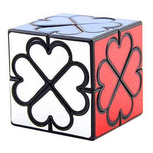 cuberspeed Lanlan Honey Copter Black Speed Cube 4 Leaf Clover Heart Magic Cube (Heart Cube)