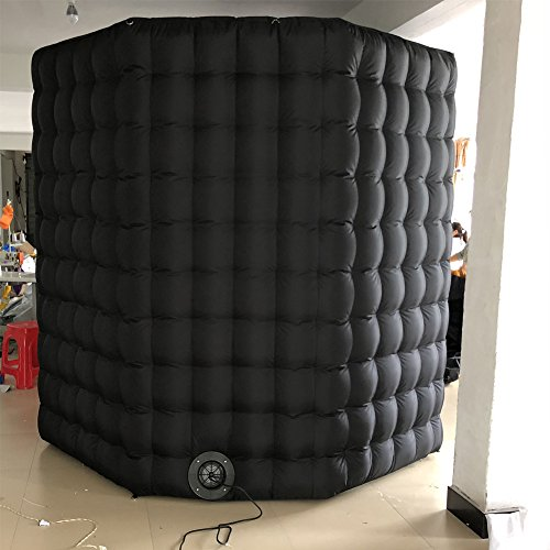 Octagon Inflatable Portable Photo Booth - Inflatable Photobooth with Led Light Strip and Inner Air Blower Octagon Booth Stand for Party, Wedding, Birthday, Halloween Decoration(Two Doors) by AIRMAT FACTORY (Image #3)