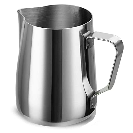 Access Frh Espresso Frothing Pitcher Stainless Steel 12 Oz 350 Ml Milk Frothers Measurements Inside Foaming Milk Jug Cup For Lattes Cappuccino Coffee by Access Frh