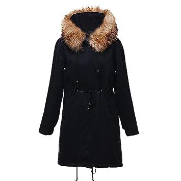 Amazon.com: NEARTIME ❤️Chaqueta larga para mujer, invierno ...