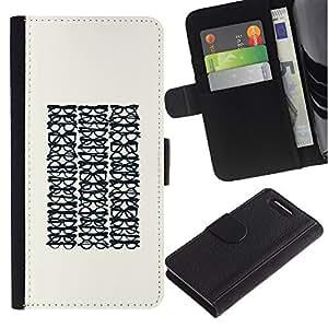 KingStore / Leather Etui en cuir / Sony Xperia Z1 Compact D5503 / Gafas Optimetrist minimalista Hipster